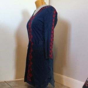 Lucky Brand minidress, size small, blue with red